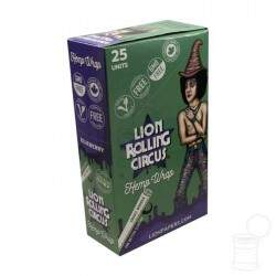 CX. HEMP WRAPS LION ROLLING CIRCUS BLUEBERRY