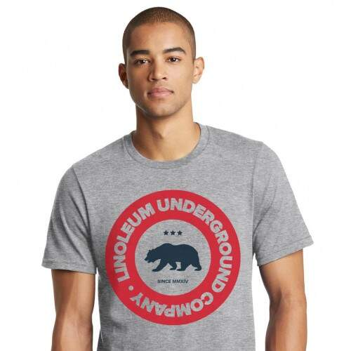 Camiseta Linoleum California Bear Cinza
