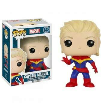 Funko Pop Capitã Marvel - versão HQ Marvel