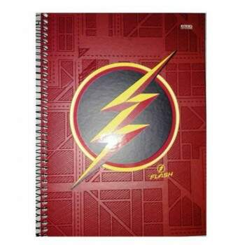 Caderno Universitário - The Flash Símbolo - 200 folhas - Capa Dura