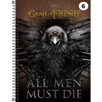 Caderno Universitário - Game of Thrones - Corvo - 96 folhas - Capa Dura