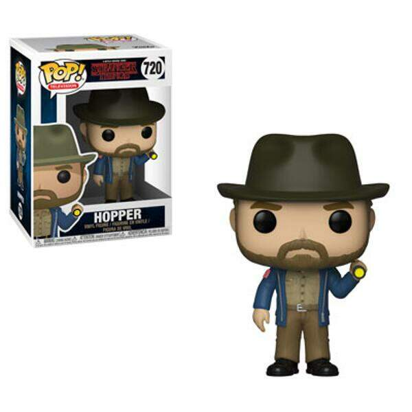 Funko Pop - Hopper número 720 - Série Stranger Things