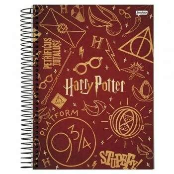 Caderno Universitário - Harry Potter - Referencias - 200 folhas - Capa Dura