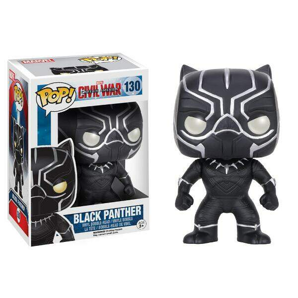 Funko Pop - Pantera Negra - Filme Guerra Civil - Marvel