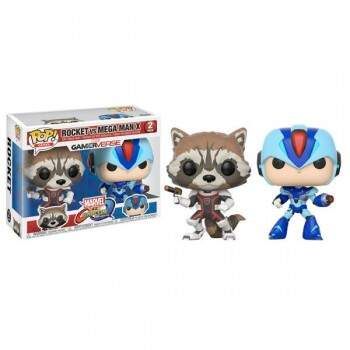 Funko Pop - Pack Rocket vs Megaman - Game Marvel vs Capcom
