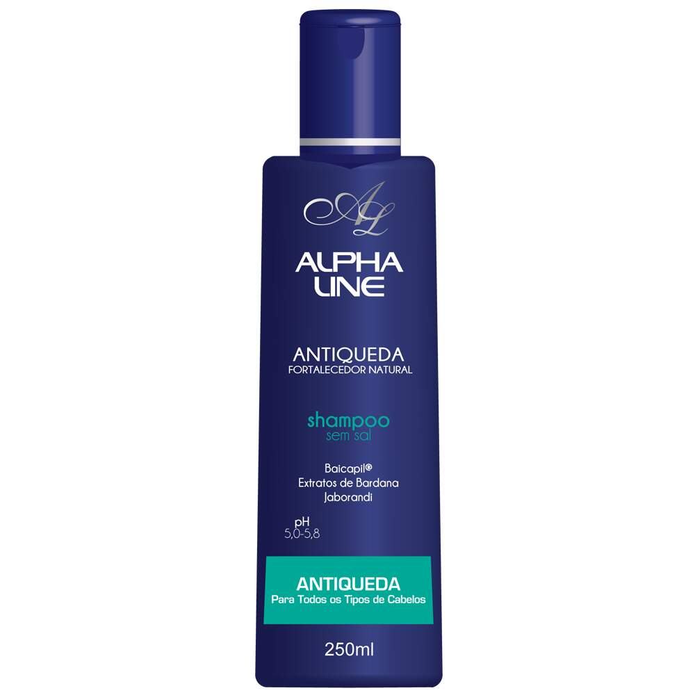 Shampoo Antiqueda Fortalecedor Natural 250ML - Alpha Line