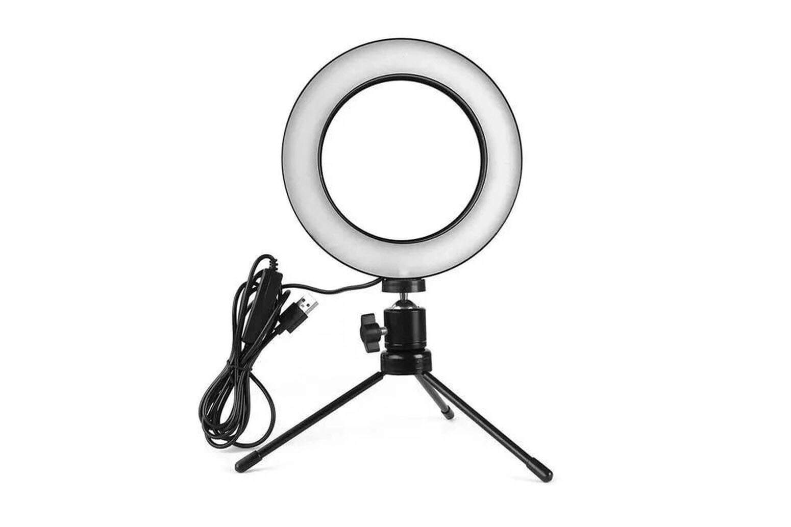 Iluminador De Led Com Tripe Ring Light Usb 16cm 6 Polegadas