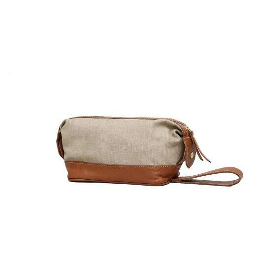 Necessaire United Bege/Caramelo