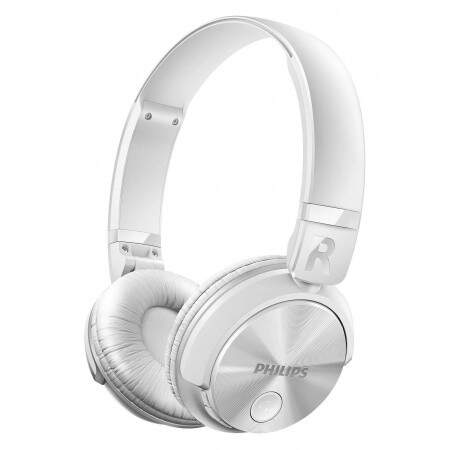 Headphone SHB3060BK/00 Alça Ajustáveis, Drivers de 32mm, Bluetooth, Branco - Philips
