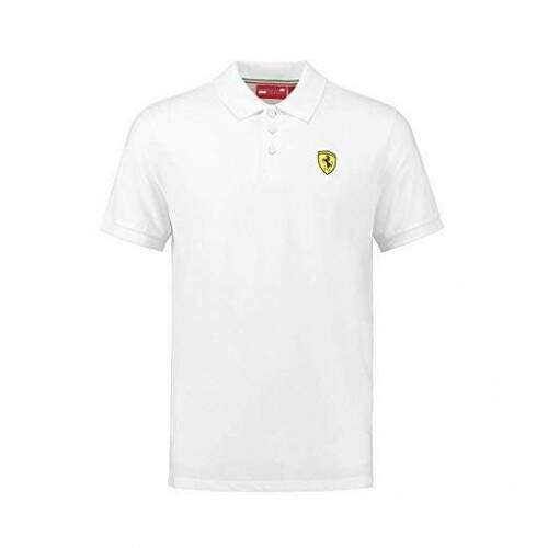 Camisa Polo Ferrari Classic Branca