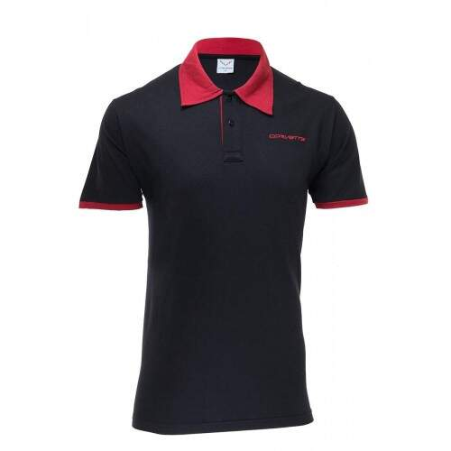 Camisa Polo Corvette L88 Bordô/Preto