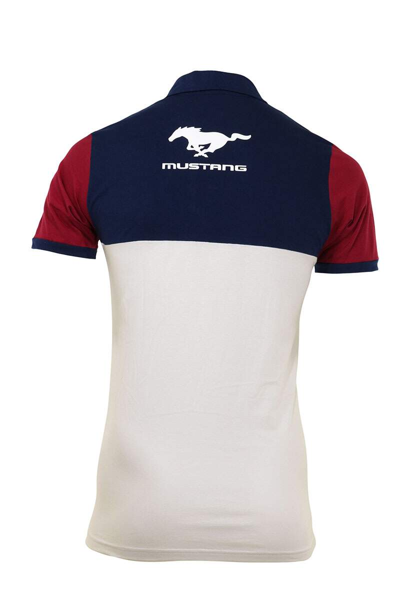 Camisa Polo Mustang Tricolor