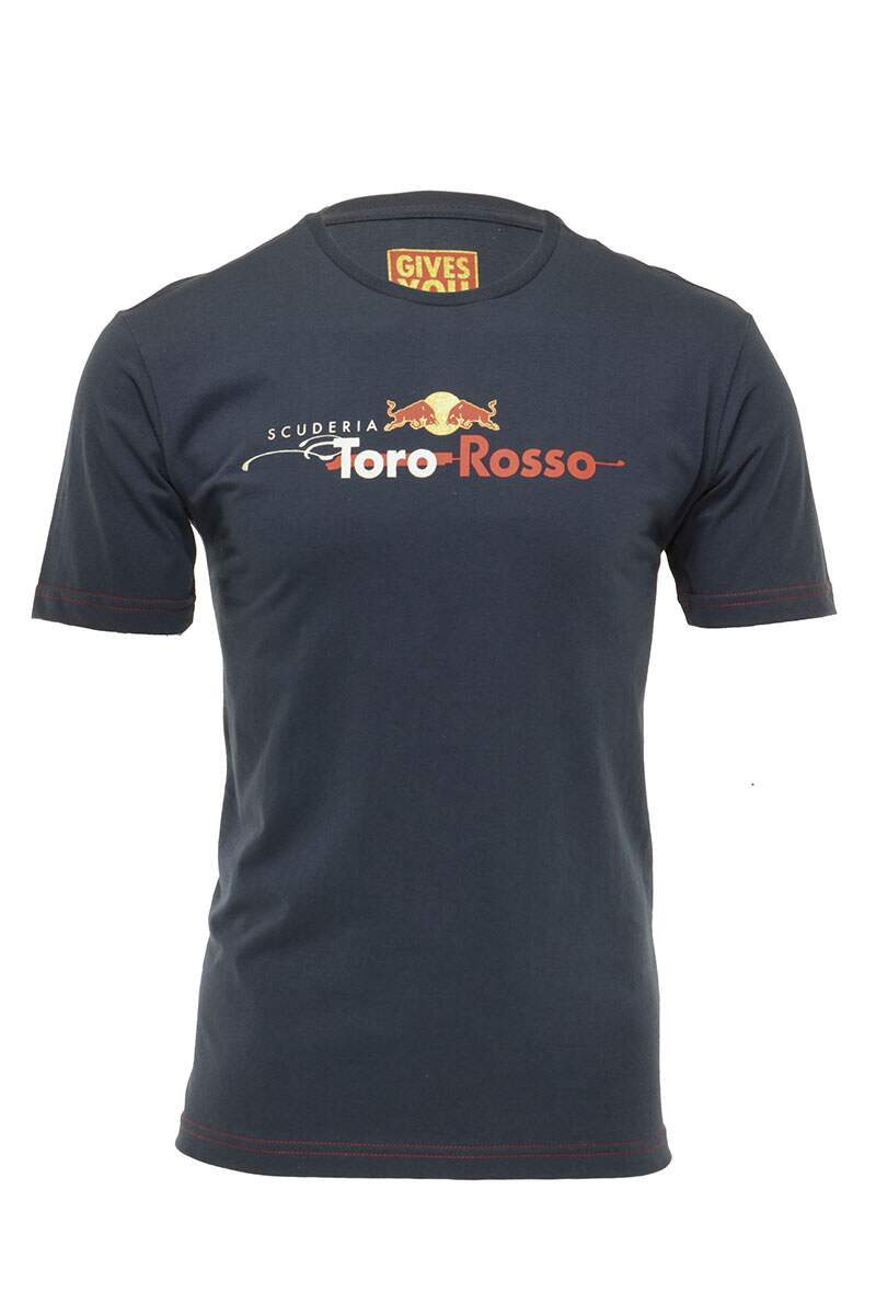Camiseta Logo Red Bull Racing Azul Marinho