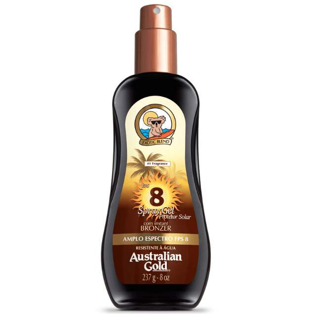 Bronzeador Australian Gold Instant Bronzer Spray Gel FPS 8 237ml