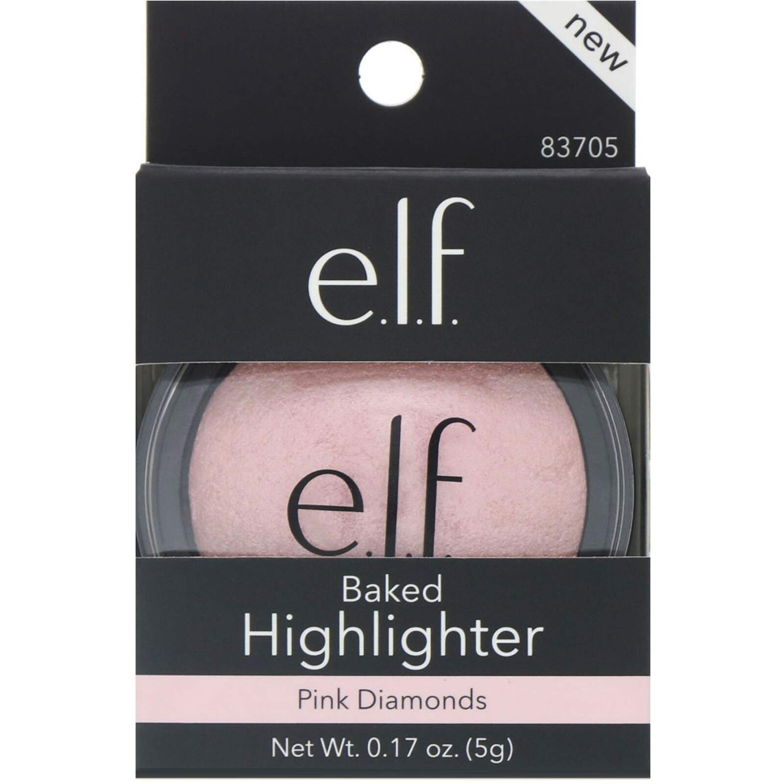 Iluminador Baked Highlighter, Pink Diamonds, 5g ELF COSMETICS