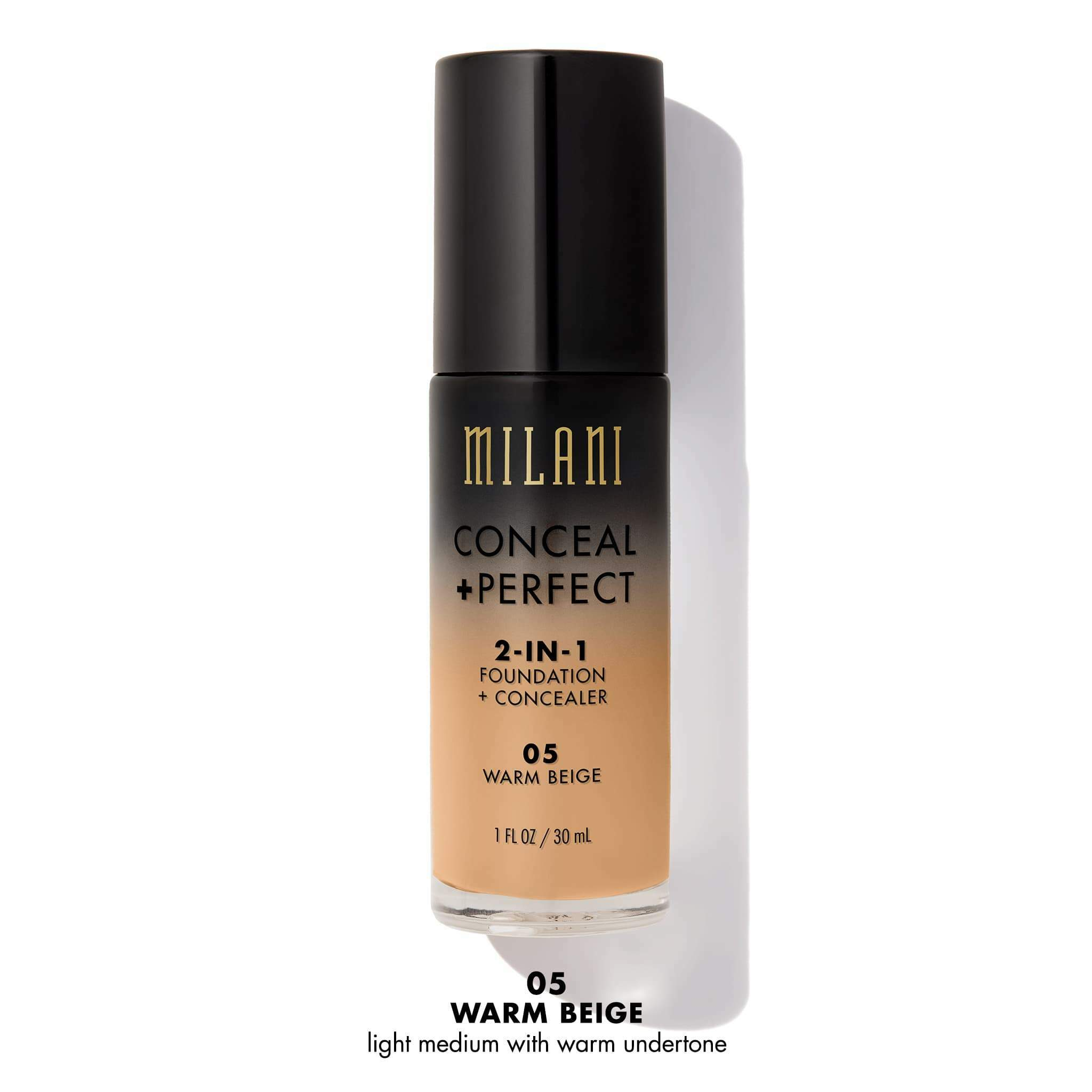 BASE CONCEAL & PERFECT 2-IN-1 FOUNDATION 30ML MILANI