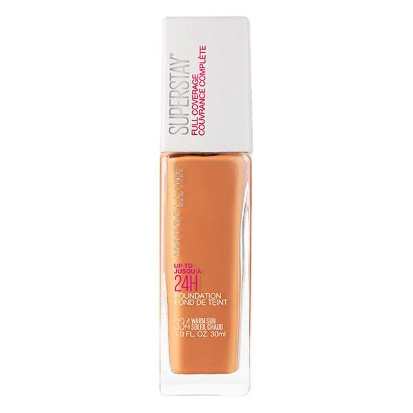 Base MAYBELLINE SUPERSTAY FULL COVERAGE FOUNDATION 334 WARM SUN - 30ML