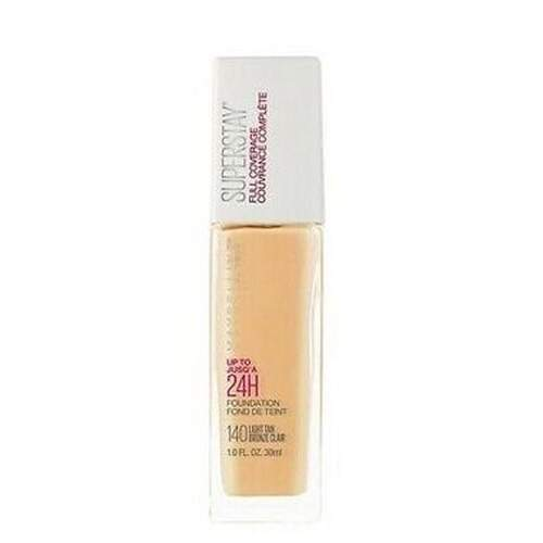 Base MAYBELLINE SUPERSTAY FULL COVERAGE FOUNDATION 140 LIGHT TAN - 30ML