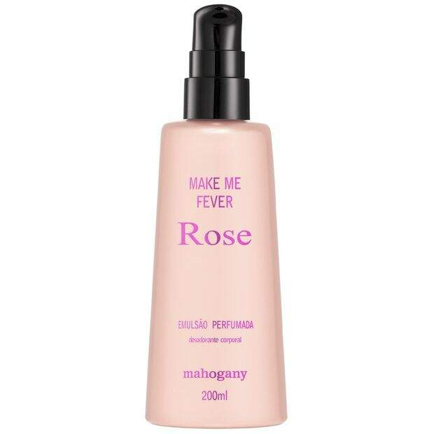 HIDRATANTE MAHOGANY MAKE ME FEVER ROSE 200ML