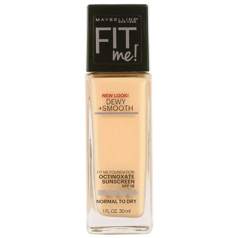 Base Fit Me Dewy + Smooth 128 Warm Nude SPF18 Maybelline 30ml