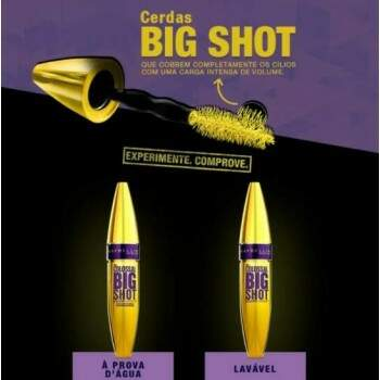 Máscara de cílios Maybelline The Colossal Big Shot Black - Lavável