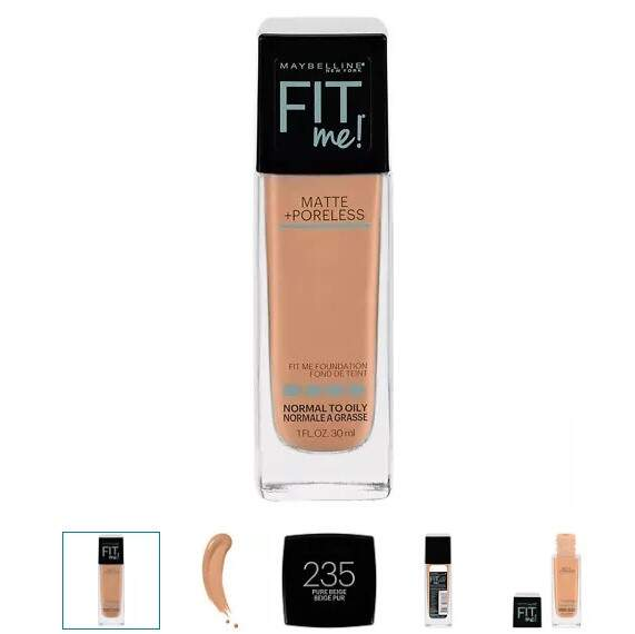 BASE Maybelline Fit Me 235 Pure Beige Matte + Poreless Liquid Foundation
