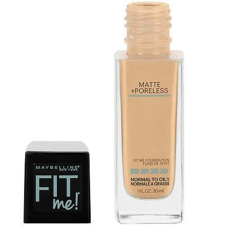 BASE Maybelline Fit Me 128 Warm Nude Matte + Poreless Liquid Foundation