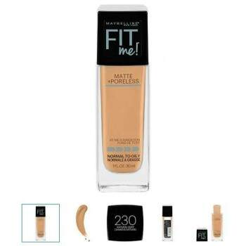 BASE Maybelline Fit Me 230 Natural buff Matte + Poreless Liquid Foundation