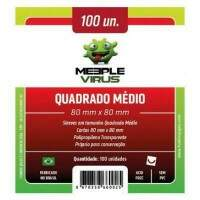 Sleeves: Meeple Virus - Quadrado - 80x80 mm