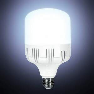 Lâmpada LED industrial bulbo E27/E40 80w com adaptador
