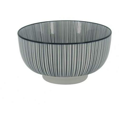 BOWL DE PORCELANA PRETO E BRANCO DECORATIVO