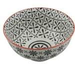 BOWL DECORATIVO -  12X6 CM - PRETO E BRANCO