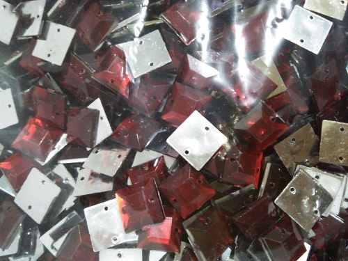 Chaton De Costura 12x12 Quadrado Vermelho Escuro Pct 2000pçs