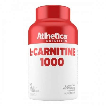 L-Carnitina 1000 - 60 Tabletes - Atlhetica Nutrition