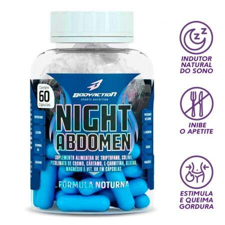 Night Abdomen 60 Caps - Body Action