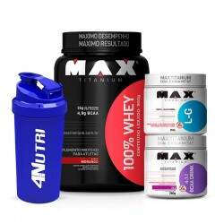 Kit Massa Muscular 100% - Max Titanium