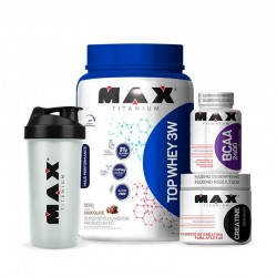 Kit Massa Muscular Top + Performance - Max Titanium