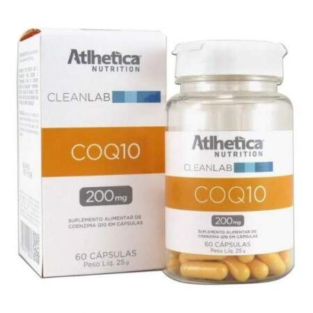 Coq10 50mg CleanLab 60 Caps - Atlhetica Nutrition