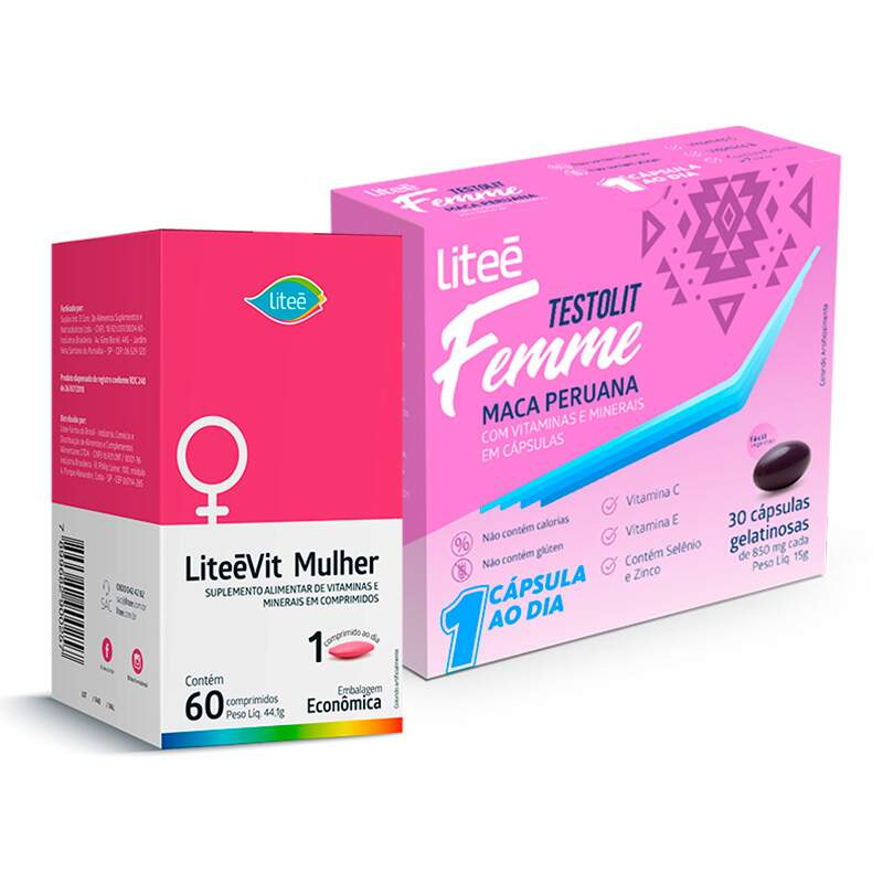 Kit Massa Muscular Feminino + Testosterona - Litee