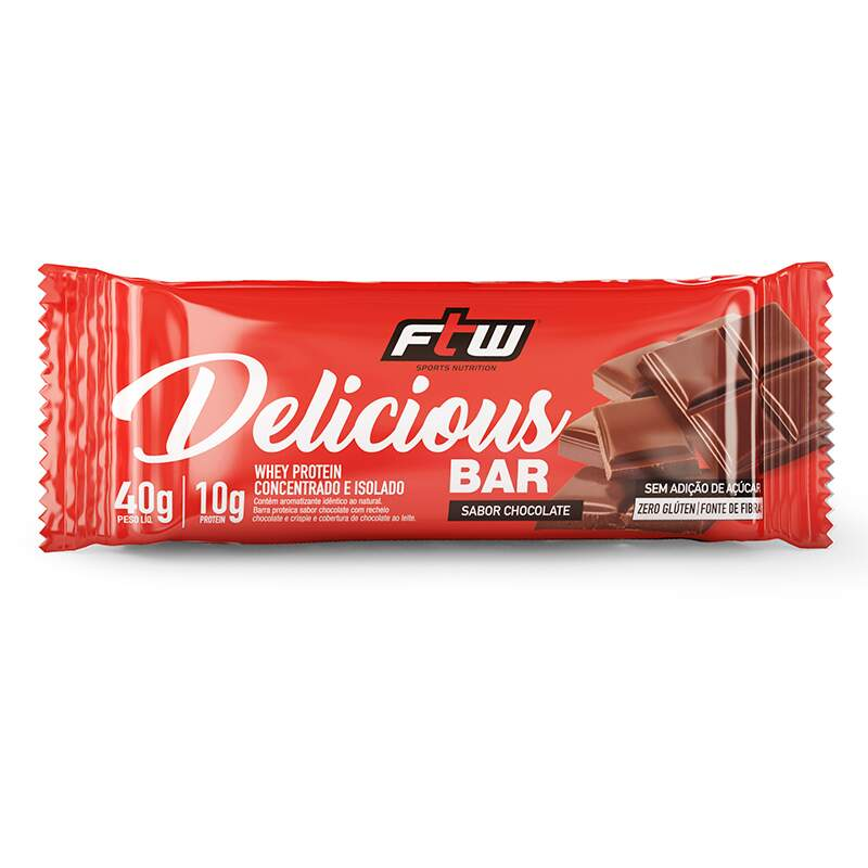 Barra de Proteína Delicious Bar 40g - FTW