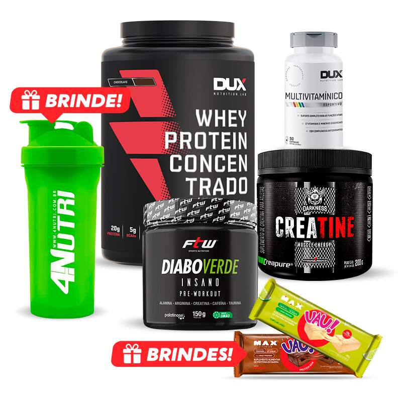 Kit Prime Muscle Insano + Brindes