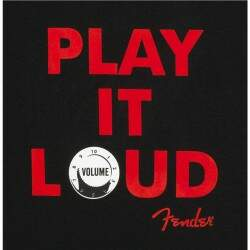 "Camiseta Play It Loud ""G"" Preta Fender"