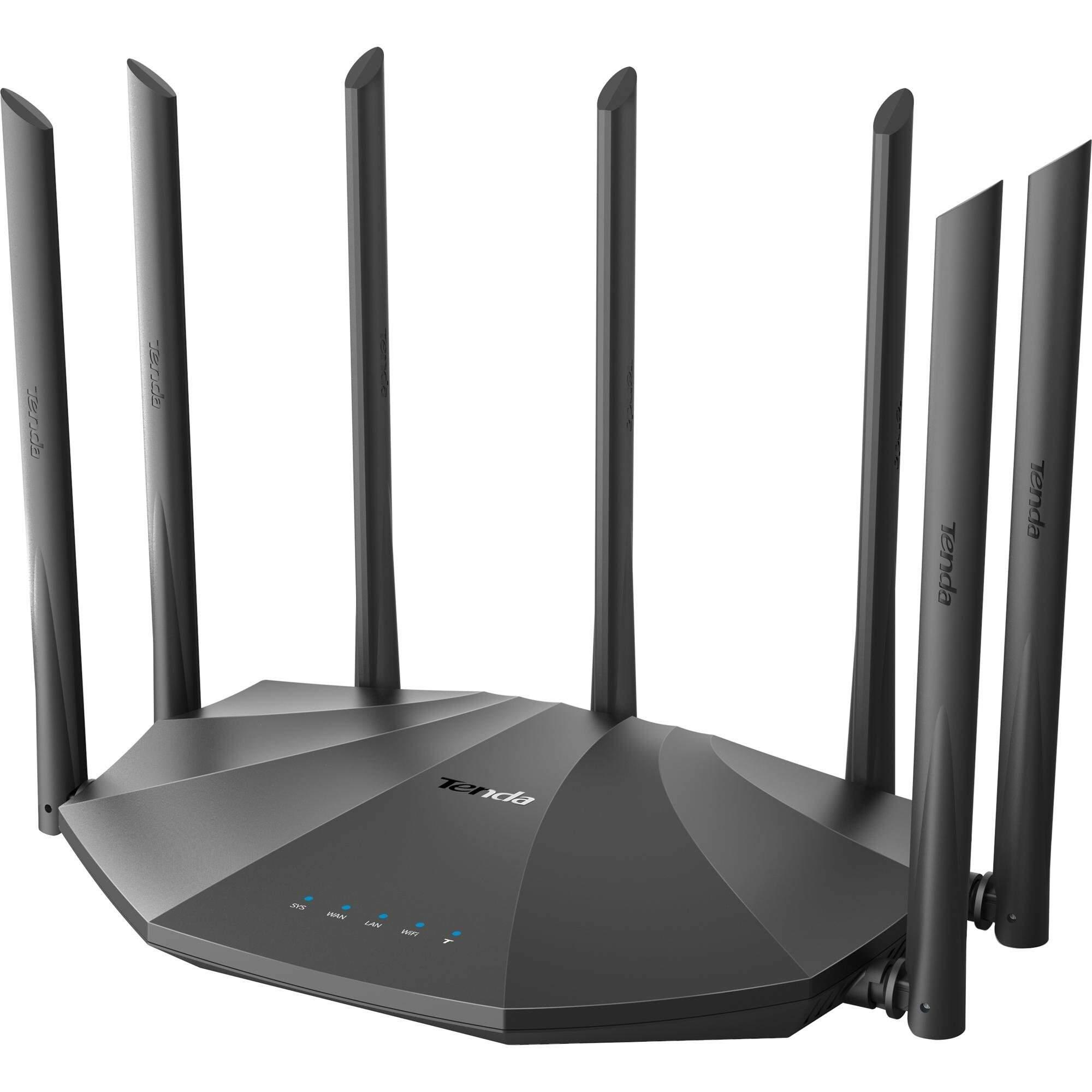 Roteador Wireless Gigabit 1200Mbps Dual Band AC23 Preto TEND