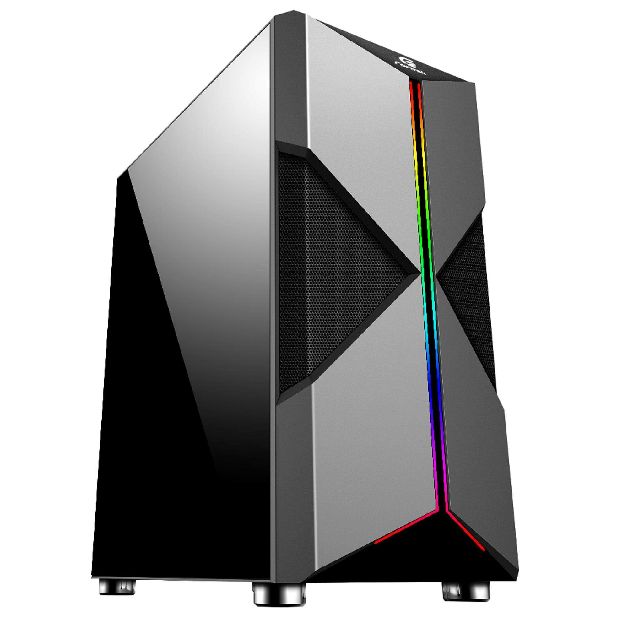 Gabinete Gamer Mid Tower HOLT RGB FORTREK