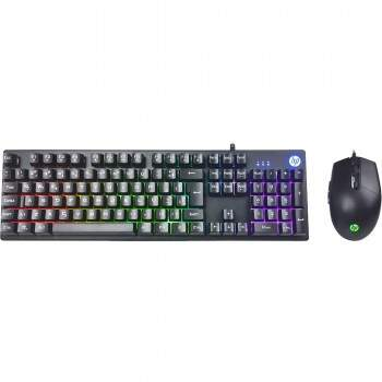Kit Teclado + Mouse Gamer USB KM300 Preto HP