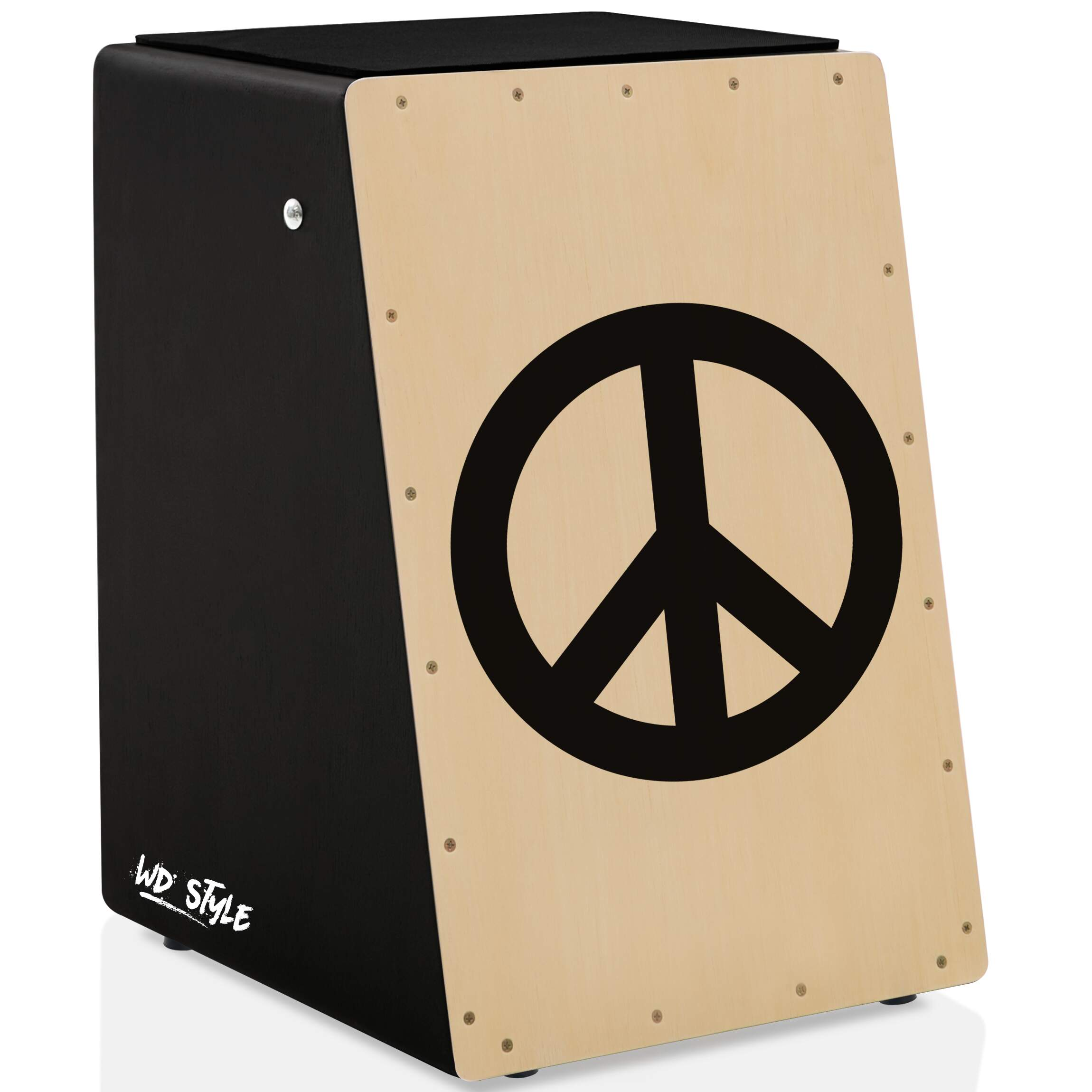 Cajón WD Style Personalizado Inclinado Black - Tampa Natural | SERTANEJO
