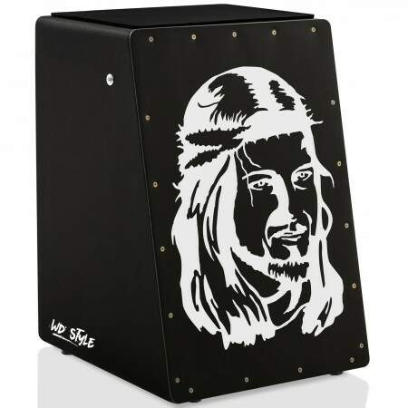Cajón WD Style Personalizado Inclinado Black - Tampa Natural | JESUS MY HERO