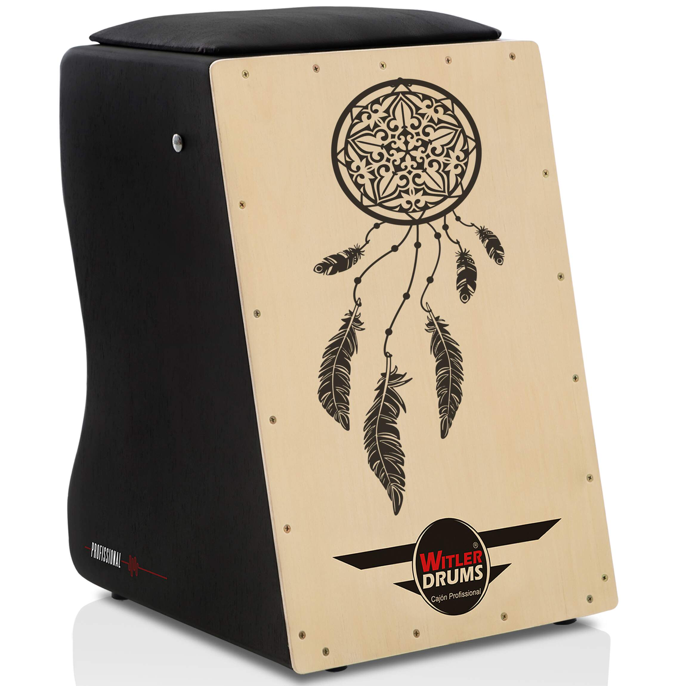 Cajón Personalizado Inclinado Black | Tampa Natural | SALVADOR