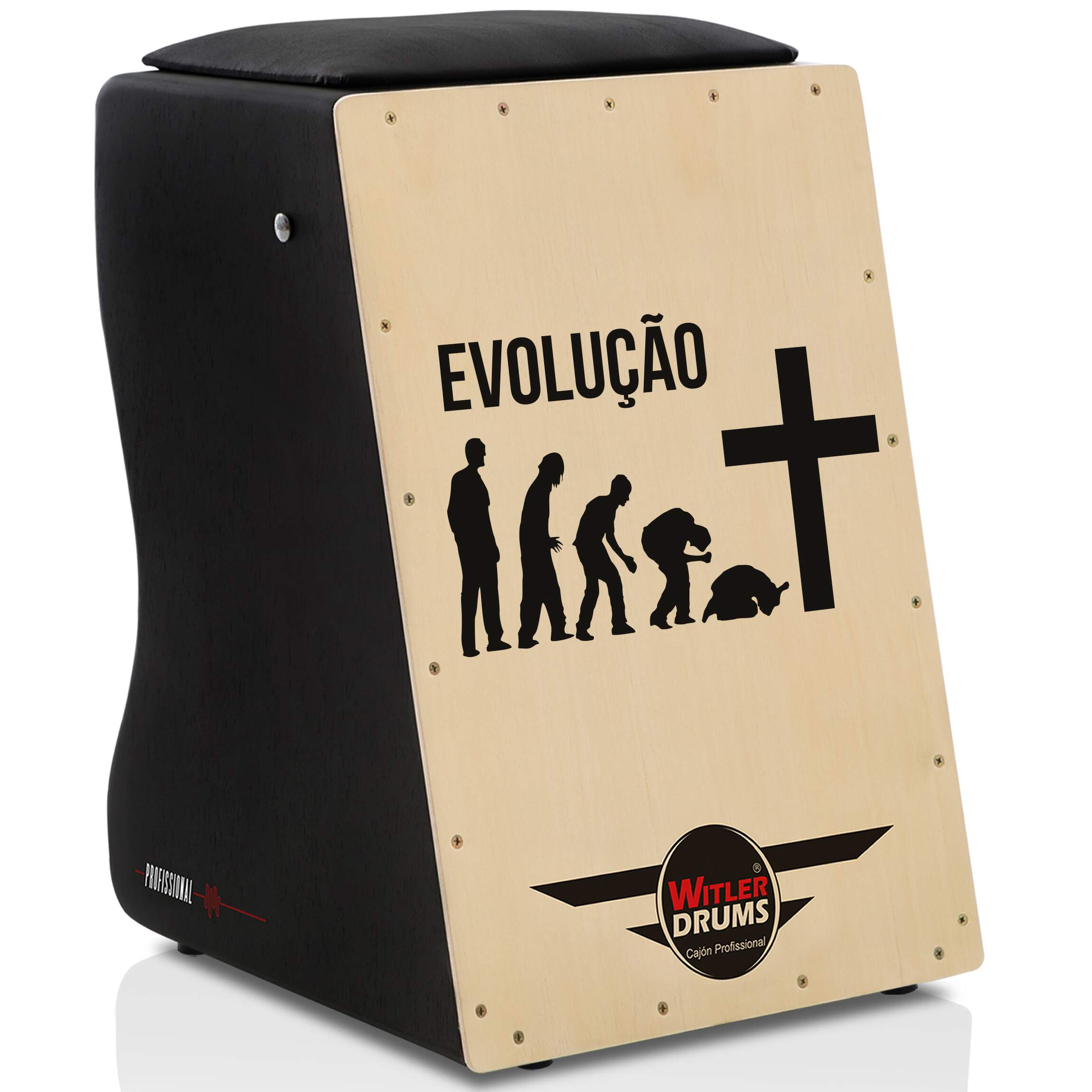 Cajón Personalizado Inclinado Black | Tampa Natural | CRUZ SANTISSIMO