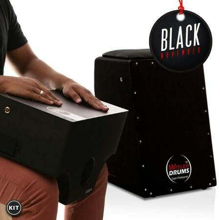 KIT -  Cajón Elétrico Inclinado Black  |  Cajón de Colo Black